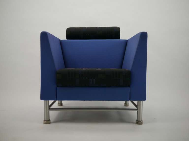 Pair Ettore Sottsass Eastside Lounge Chairs For Knoll 9