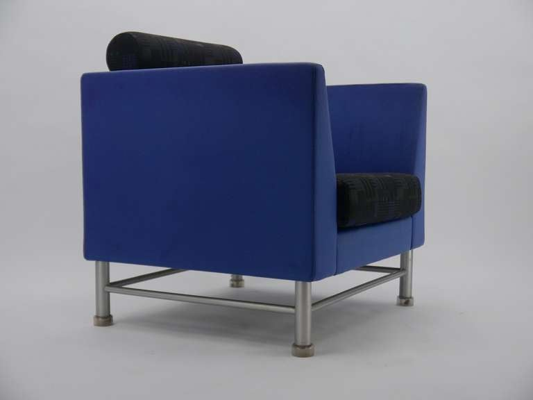 Pair Ettore Sottsass Eastside Lounge Chairs For Knoll 7