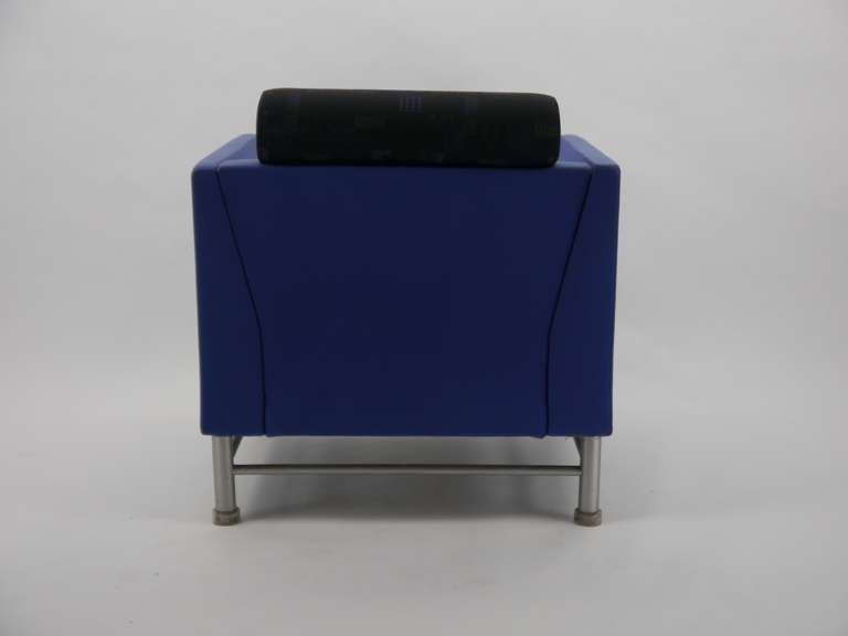 Pair Ettore Sottsass Eastside Lounge Chairs For Knoll 6