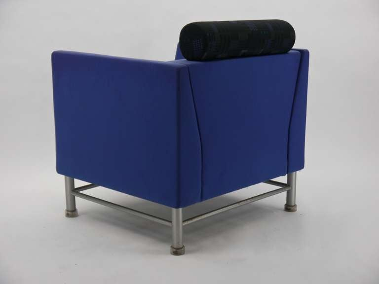 Pair Ettore Sottsass Eastside Lounge Chairs For Knoll 5