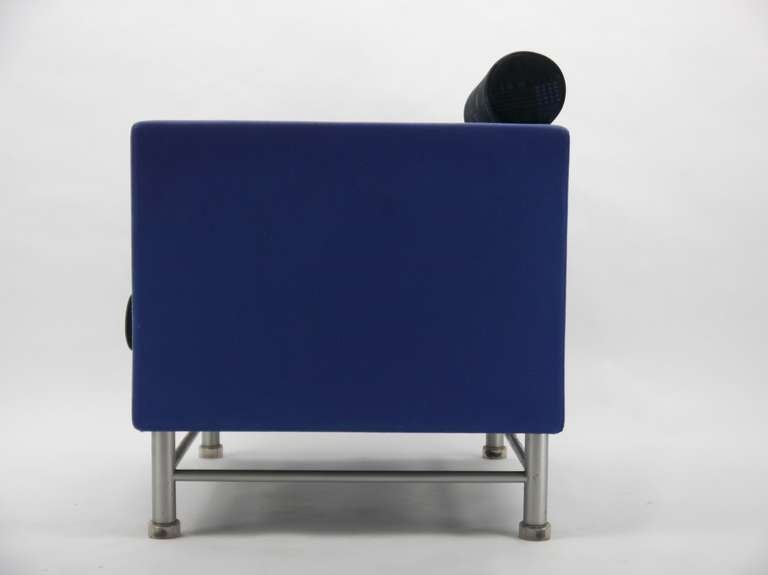 Pair Ettore Sottsass Eastside Lounge Chairs For Knoll 3