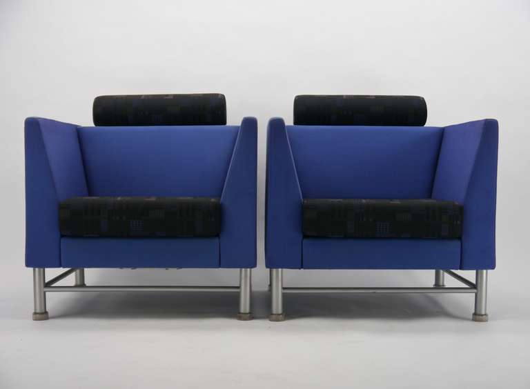 Pair Ettore Sottsass Eastside Lounge Chairs For Knoll 2