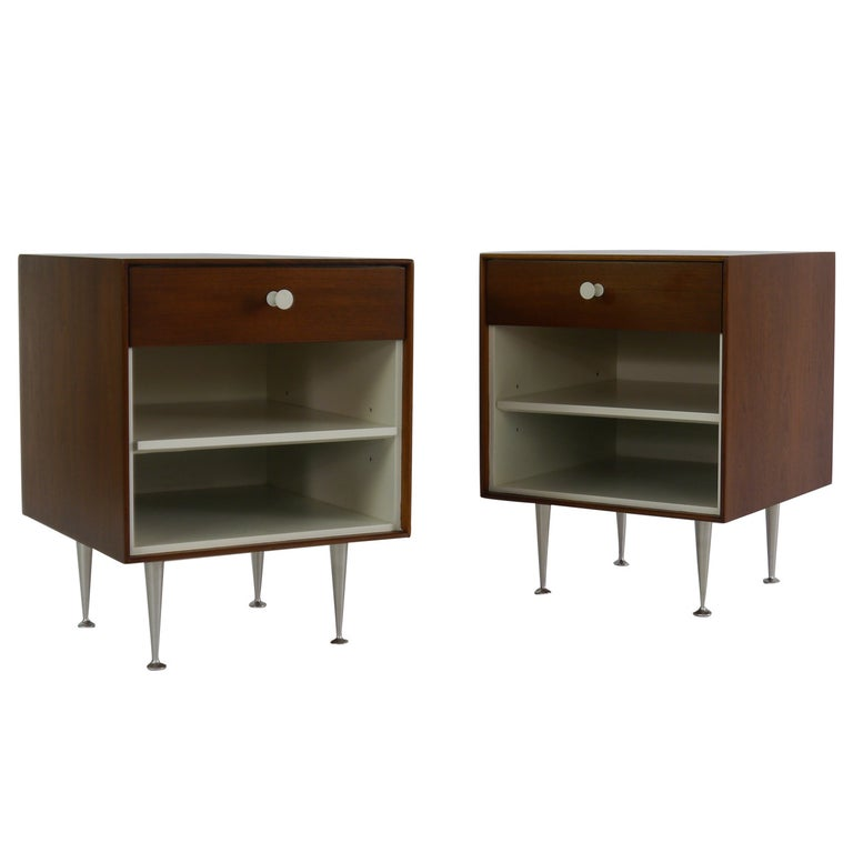 Thin-Edge Nightstands by George Nelson for Herman Miller For Sale