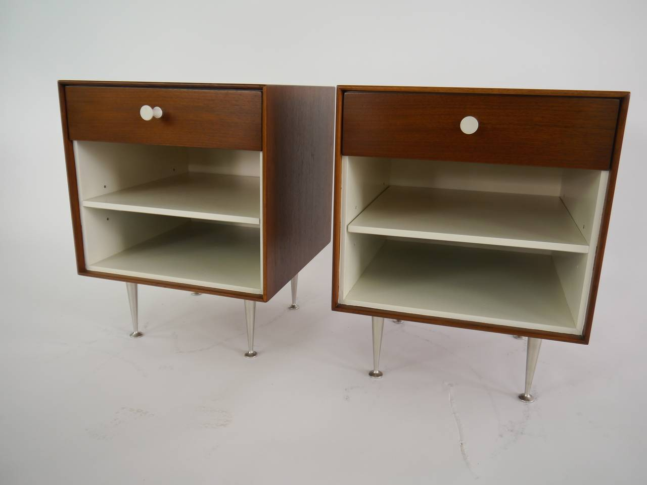 Mid-Century Modern Thin-Edge Nightstands by George Nelson for Herman Miller For Sale