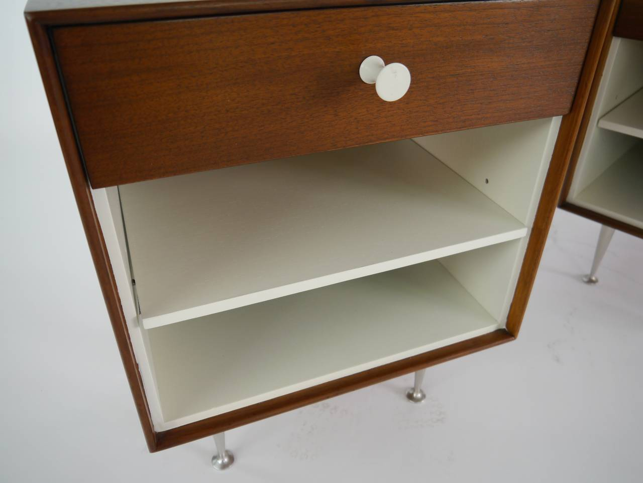 Mid-20th Century Thin-Edge Nightstands by George Nelson for Herman Miller For Sale