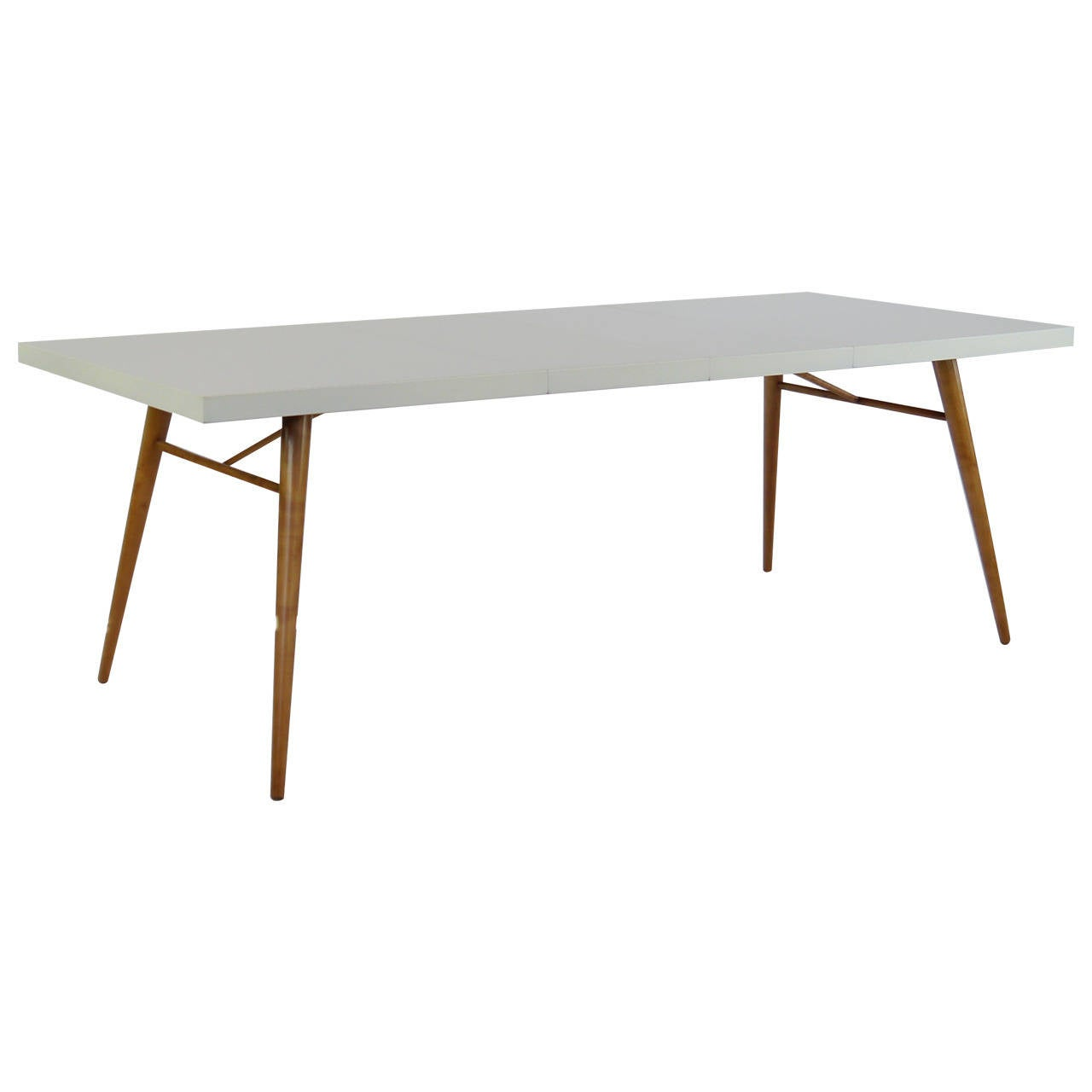Dining table in white lacquer by paul mccobb at 1stdibs for White lacquer dining table