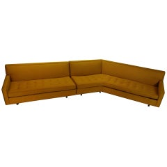 Large Two-Piece Button Tufted Sectional Sofa by Harvey Probber