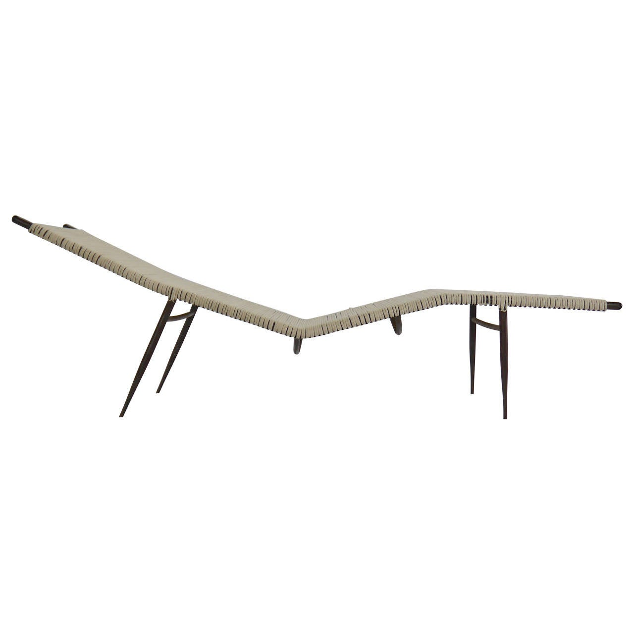 Exceptional Mid Century Chaise Longue