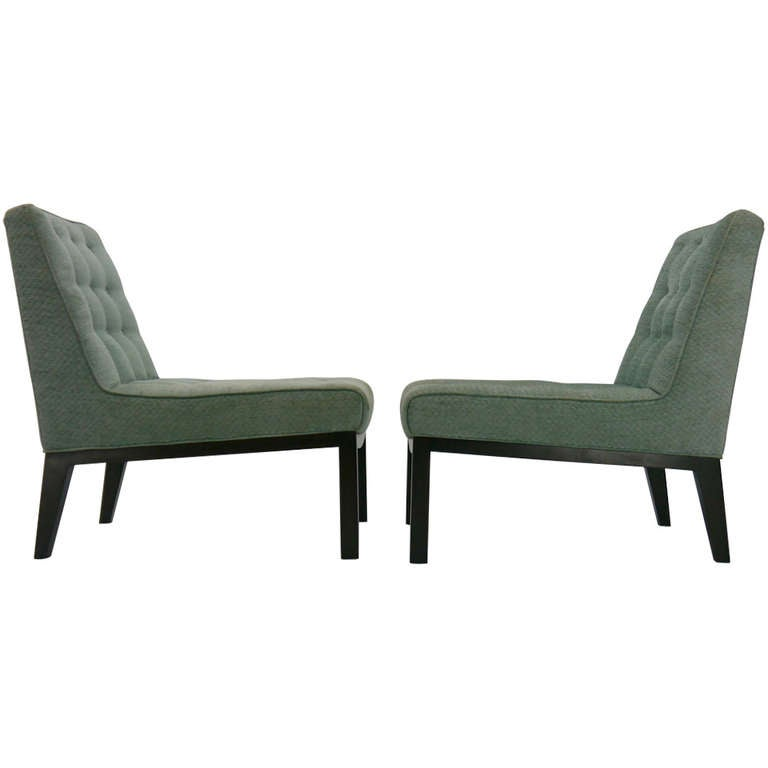 Pair of Edward Wormley for Dunbar Slipper Chairs