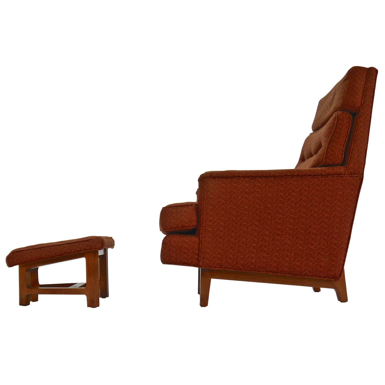 Lounge Chair and Ottoman by Edward Wormley for Dunbar