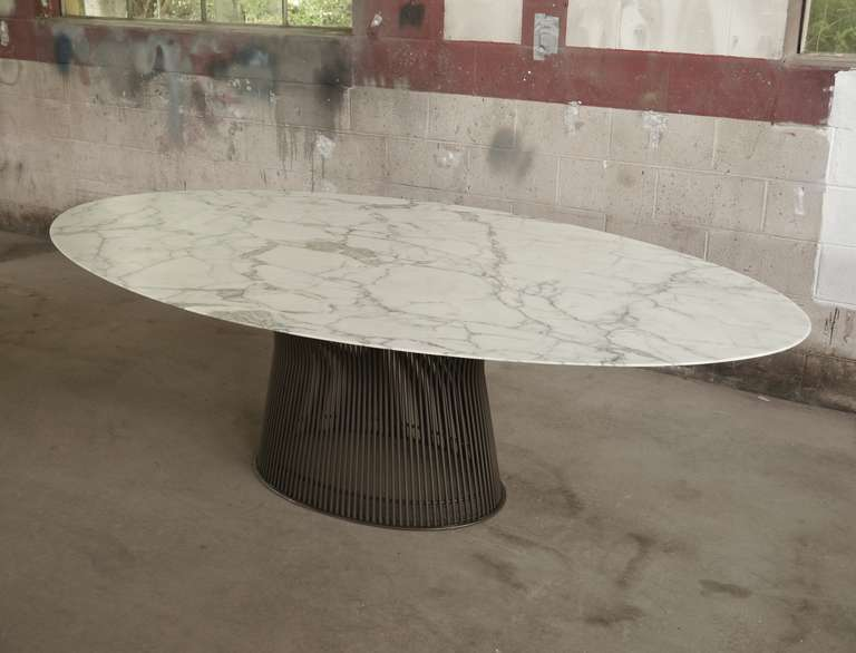 Rare Oval Dining Table By Warren Platner. This Is The Third Example To Come  To
