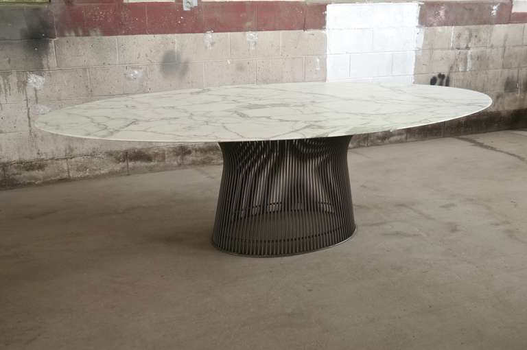 Rare Oval Dining Table By Warren Platner At Stdibs - Oval dinner table
