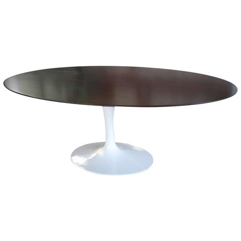 Oval tulip dining table by eero saarinen for knoll at 1stdibs - Saarinen oval dining table ...