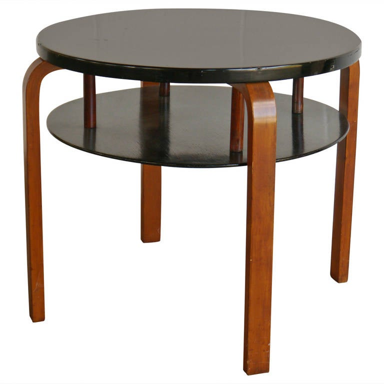 early alvar aalto tiered table for finmar at 1stdibs. Black Bedroom Furniture Sets. Home Design Ideas