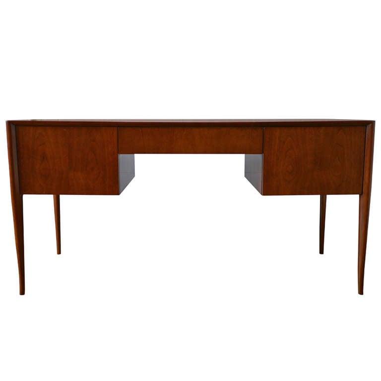 T. H. Robsjohn-Gibbings Walnut Desk