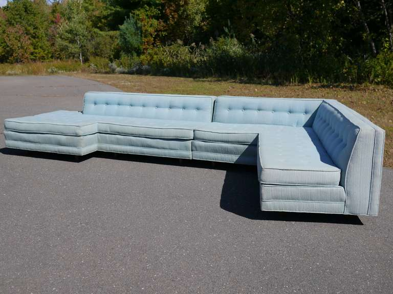 15 foot sectional sofa by harvey probber at 1stdibs for 7 ft sectional sofa