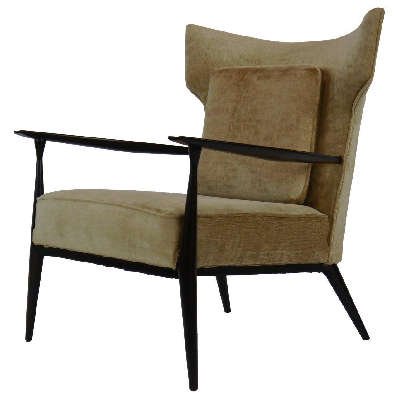 Rare Paul McCobb Wing Lounge Chair at 1stdibs