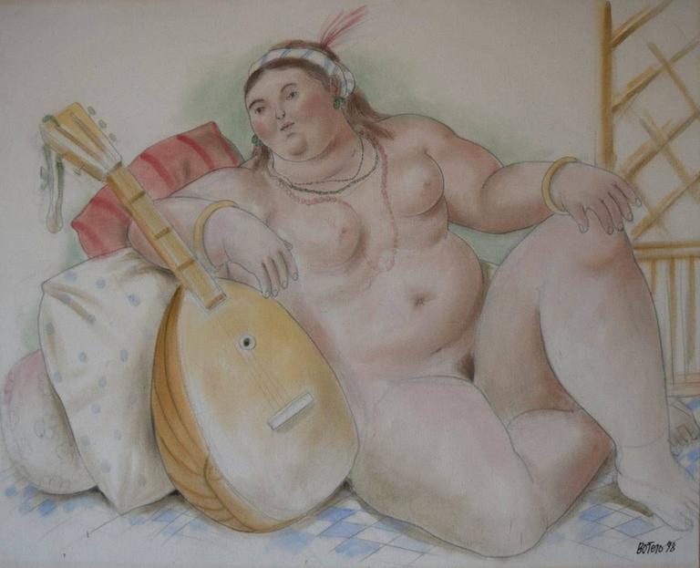 Fernando Botero - Odalisque 1
