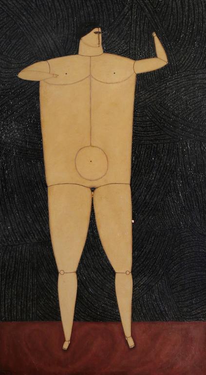 Joseph Glasco - Interior with Standing Man, 1955 1