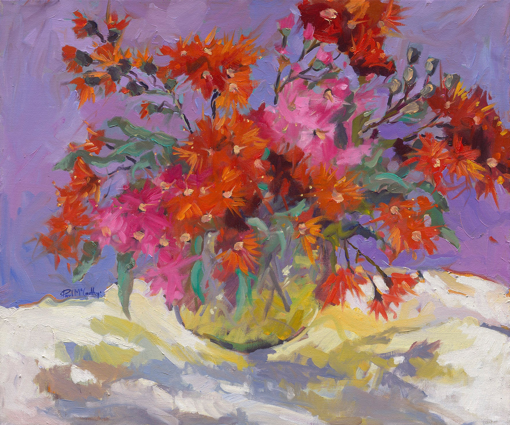 Gum Blossom - Still Life Painting by Paul McCarthy