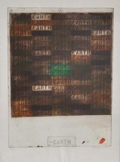 """Joe Tilson, signed Etching """"Earth"""", signed"""