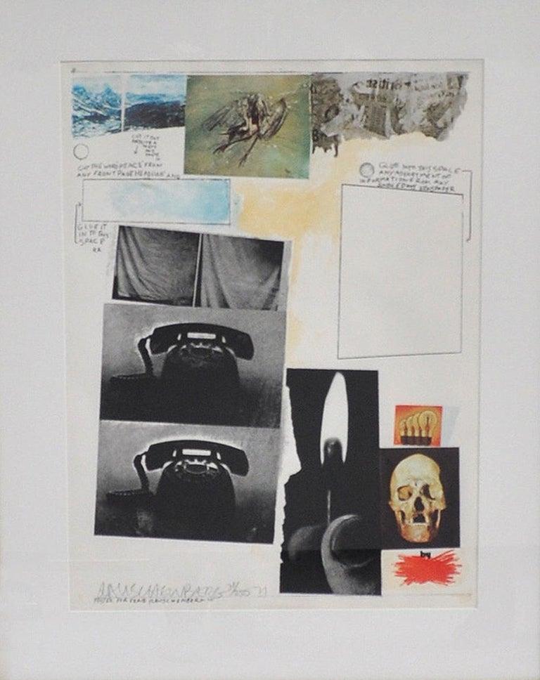 Robert Rauschenberg, Silkscreen, signed and numbered 31/250