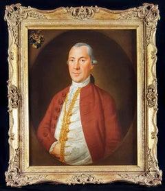 Fine 18thc Oil Portrait Painting of Christian August Helffrich