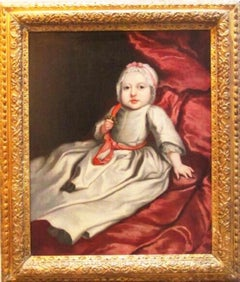 17thc Oil Portrait Of A Baby Circle Of Mary Beale (1633-1699) English School
