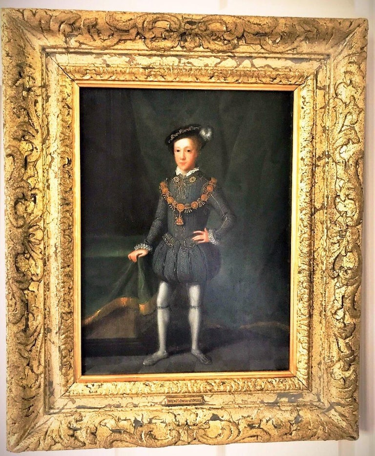 King Edward VI (1537-1553) C1670-1700 Historically Important Oil On Oak Panel