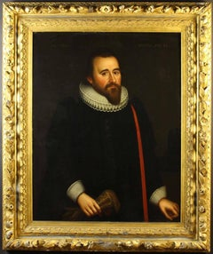 17thc Oil Portrait of Richard Graves ( Husband of Frances ) in Ruff Collar C1621