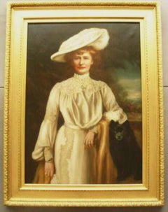 19thc Oil Portrait of Lady Dunbar of Mochrum