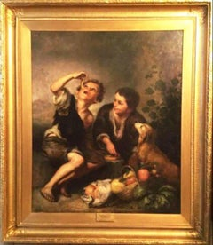 The Pie Eaters After Bartolome Esteban Murillo European School Oil Painting