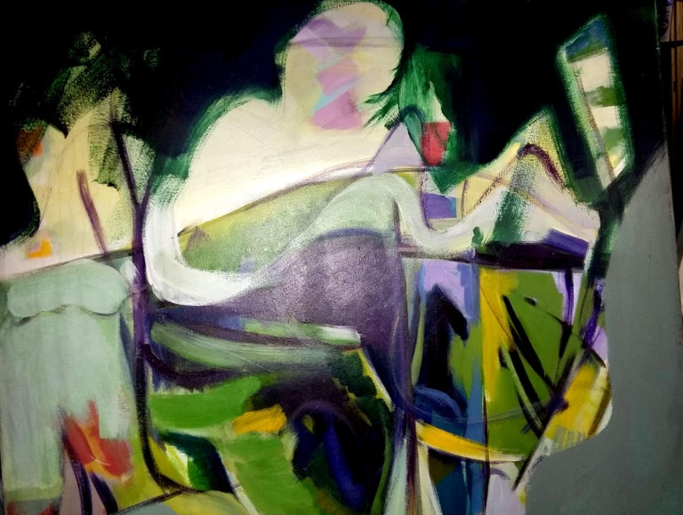 The Performance by Ricardo Vivanco Mixed Media on Canvas