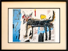 Jean Michel Basquiat Part Wolf Reproduction Giclee Print