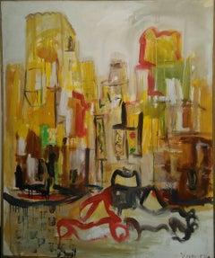 Urban Live by Ricardo Vivanco Mixed Media on Canvas