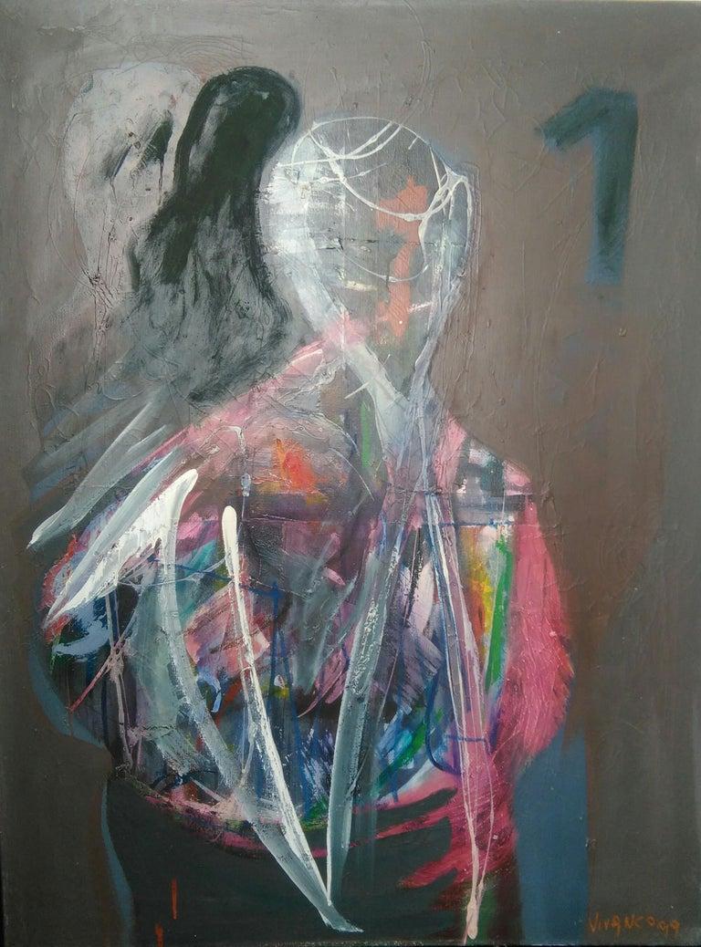 The One by Ricardo Vivanco Mixed Media on Canvas