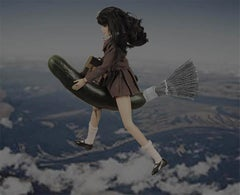 Flying School Girl Barbies Series by Alex Khomski Digital Print on Canvas