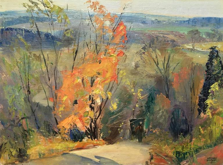 Adrian Dingle Landscape Painting - Road to Glen Williams