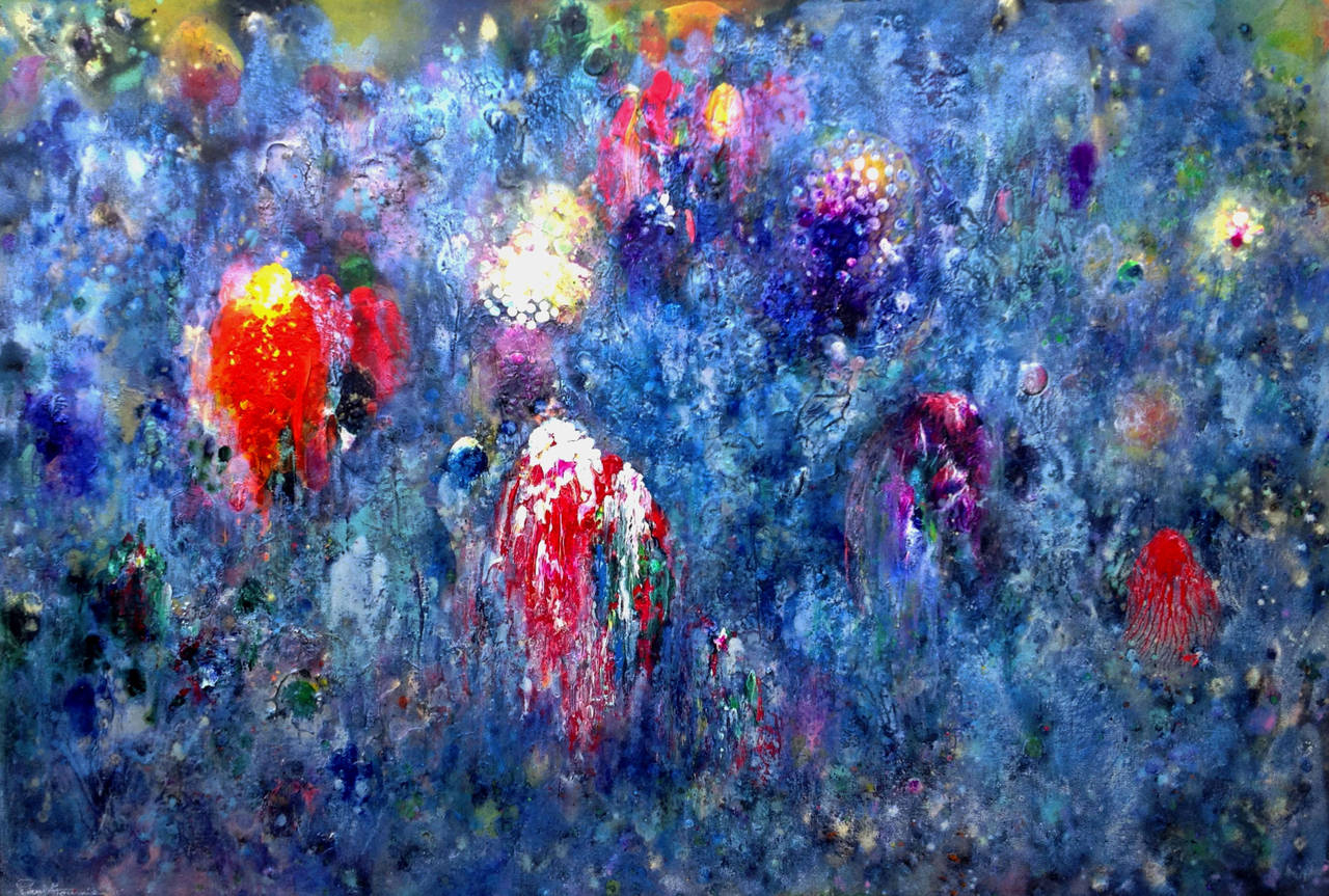 Paul Fournier Abstract Painting - Radiant Deep