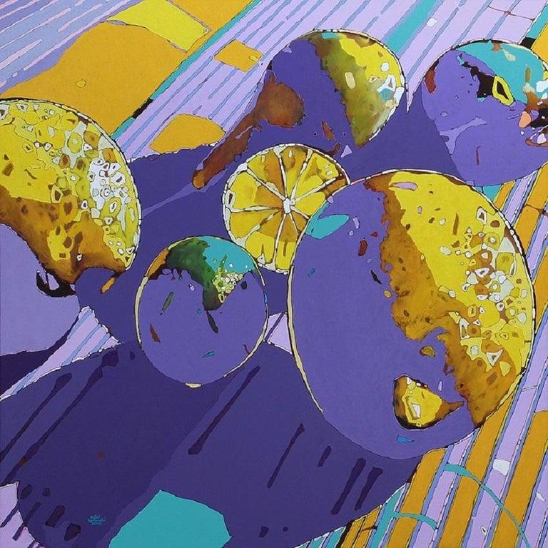Lemons, a lime and pears