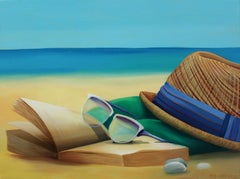 By The Seaside - 21st Century, Surrealist, Figurative Painting on Canvas