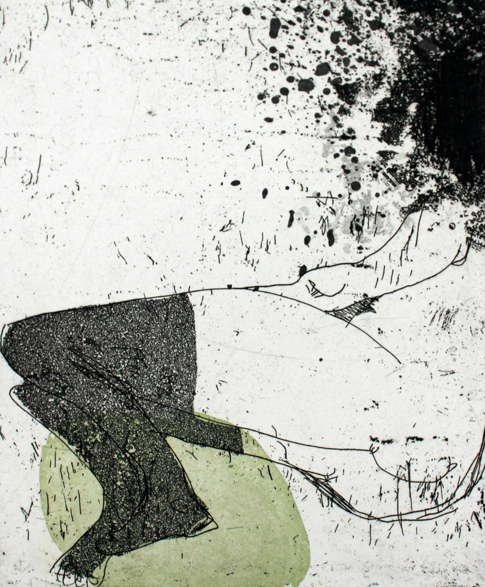 Nude VII - XXI Century, Contemporary Figurative Etching Print