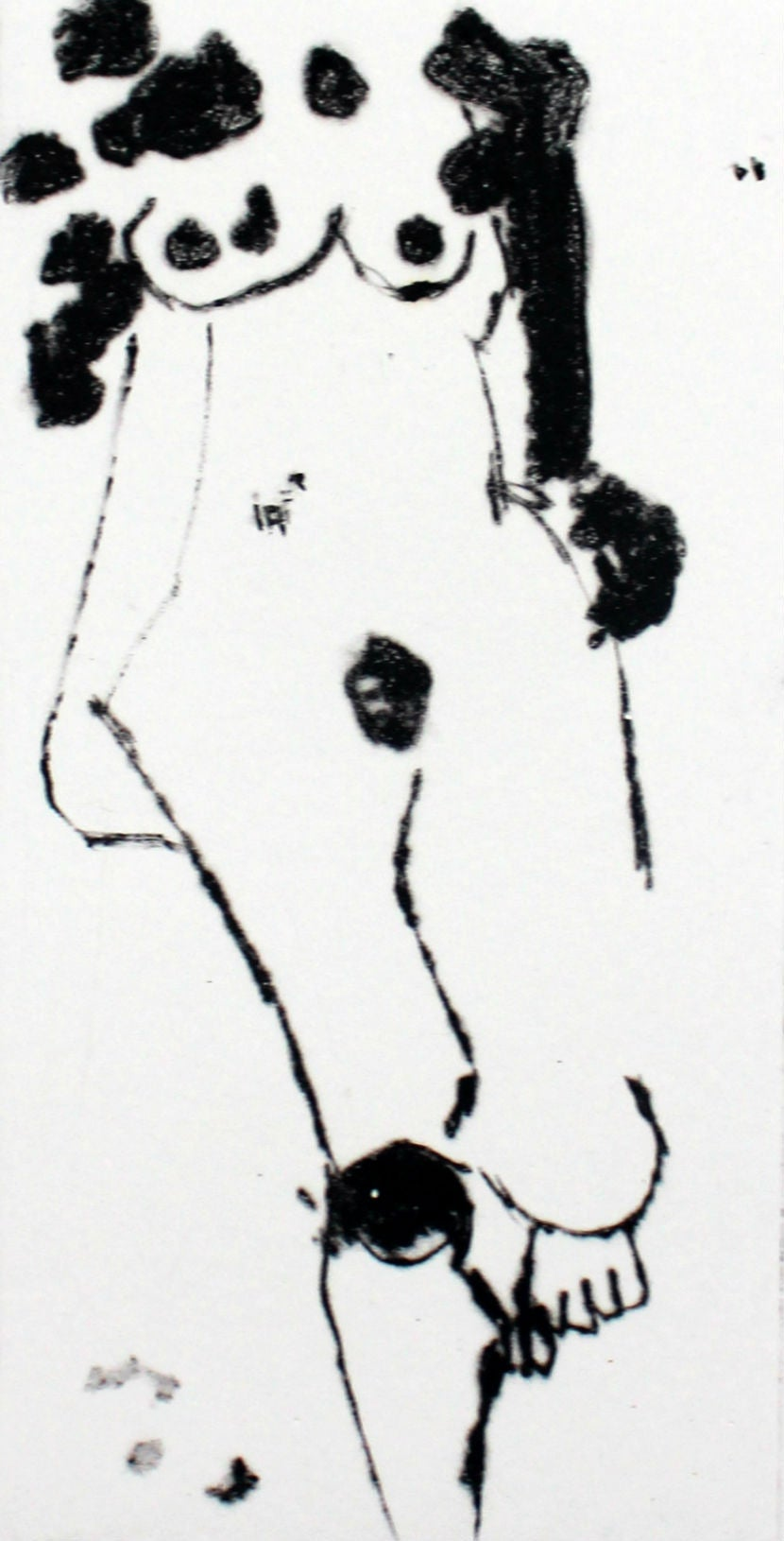Nude XV - XXI Century, Contemporary Figurative Drypoint Etching Print