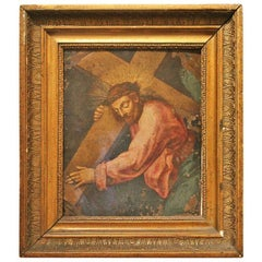 F. Fenzoni (Circle), Italian 16th century Religious Oil on Copper Painting