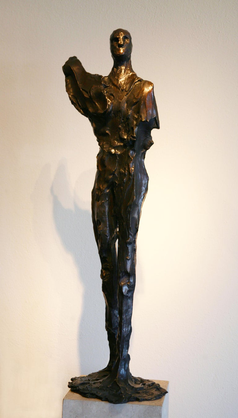 """""""Painted Man"""" by abstract-figurative artist, Frank Arnold of the U.S. & Mexico"""