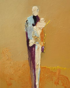"""With C"" by abstract-figurative artist, Frank Arnold of the U.S. and Mexico"