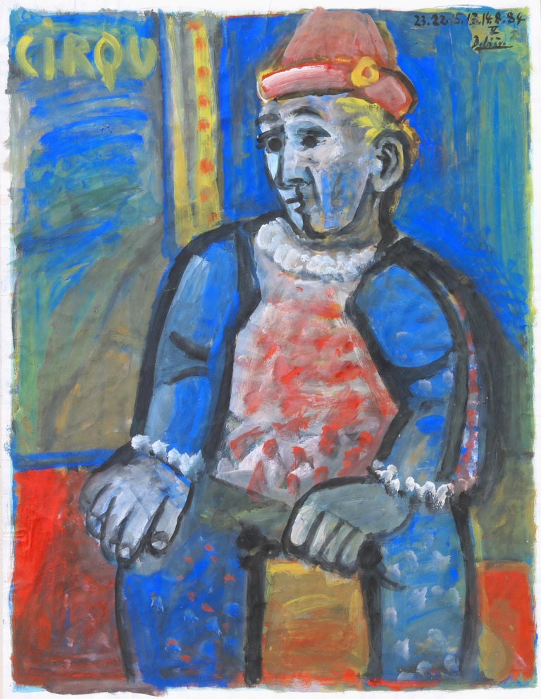 Circus, unique piece, oil paint on paper, 1984