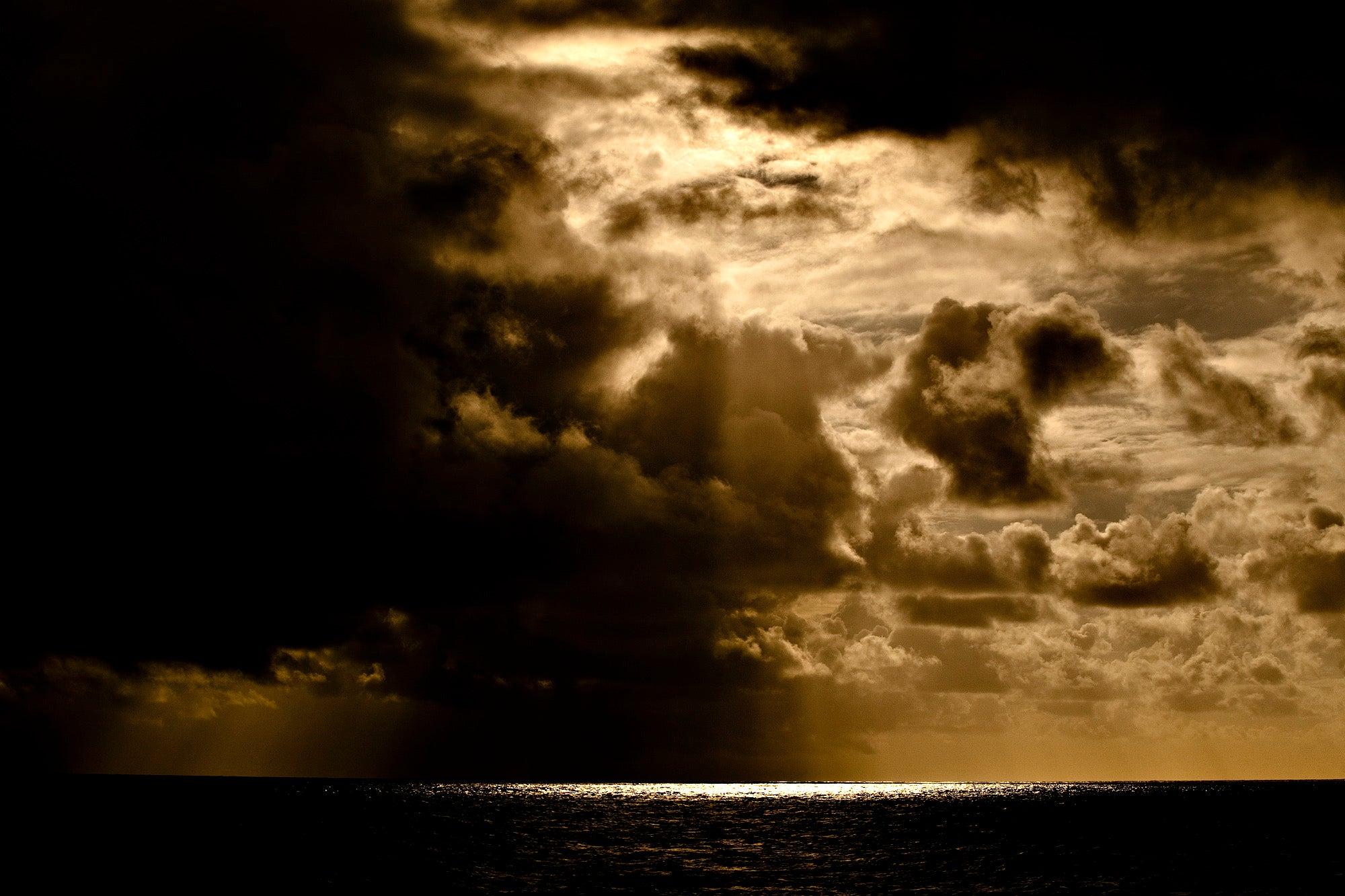 Tropical Storm IV, Sunset Atlantic Ocean, Brazil