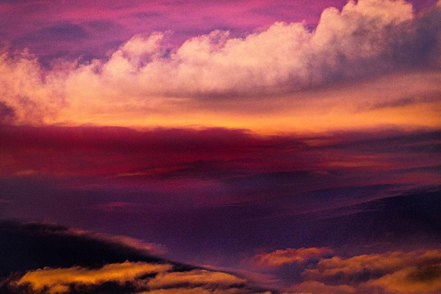 Nature Abstraction #2, Cumulus Sunset (Color Abstract Photography)