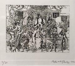 Ziegfeld Follies, etching 2/20, dated 1996 by Sir Eduardo Paolozzi